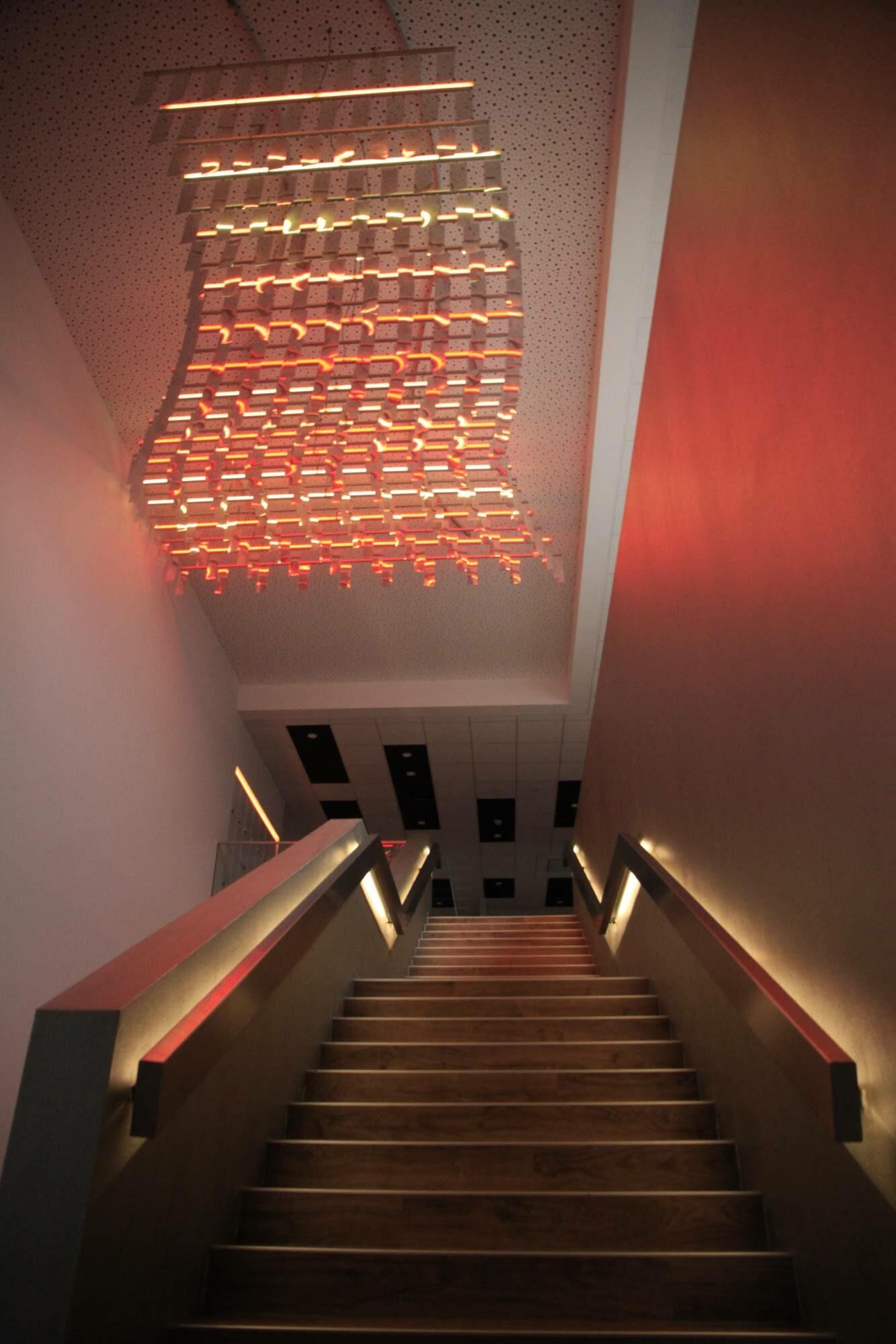 Wechselwirkung — Interaktives Lichtsegel